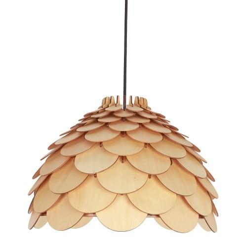 Lampa suspendată din lemn BURGO mic