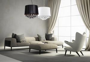 Lampa suspendată neagră în stilul Glamour VIGO small 1
