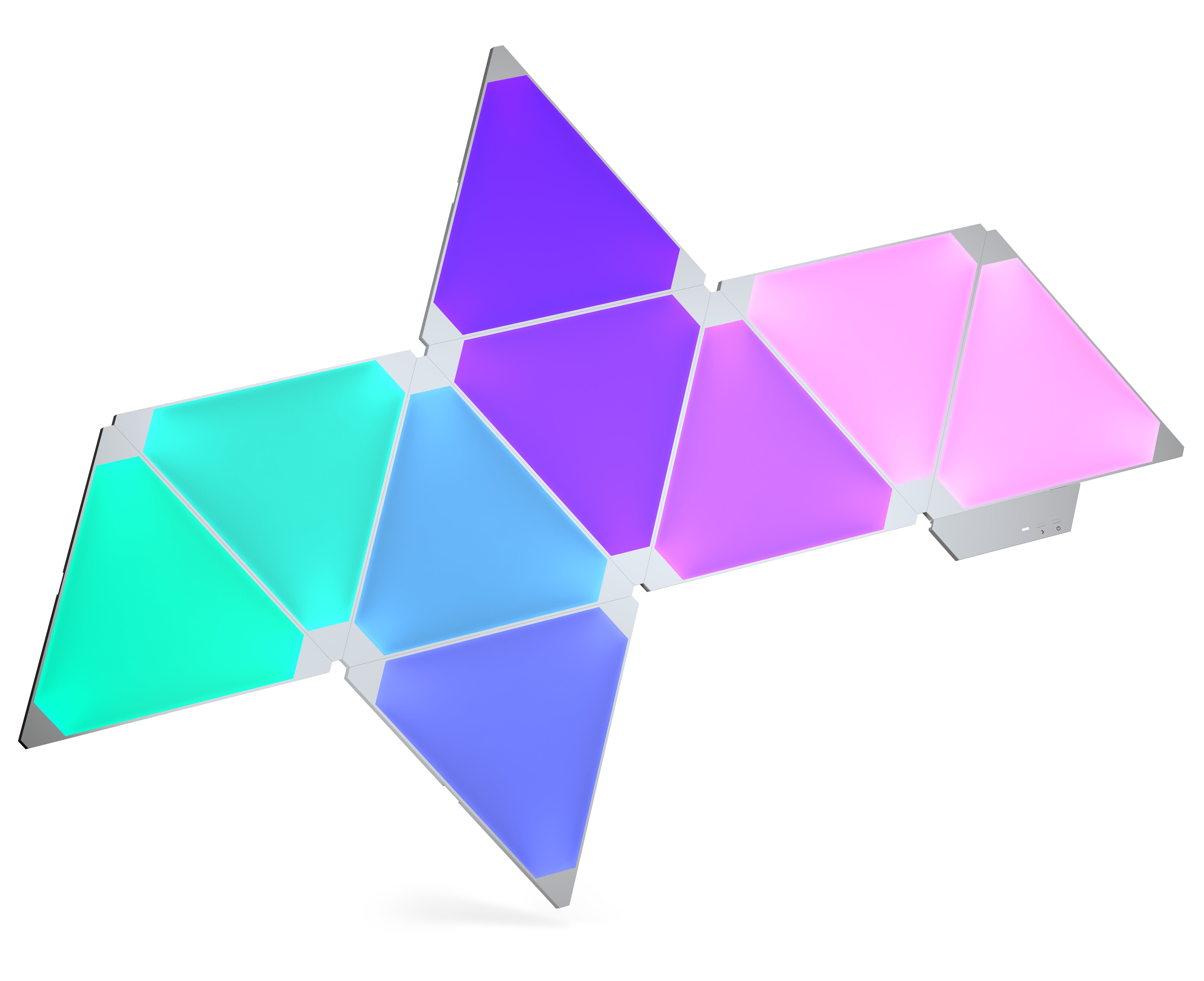 Kit Nanoleaf Aurora Light Panels Smarter Kit 9 panouri Smart home