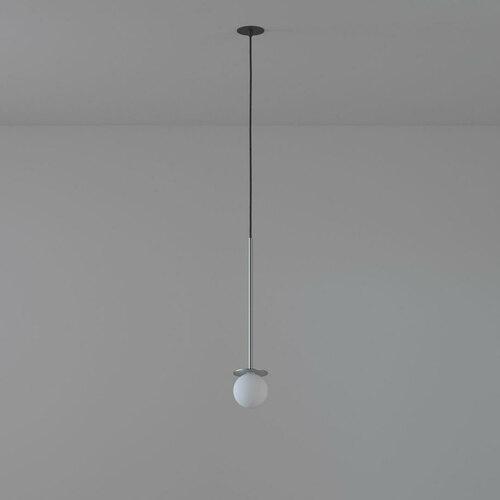 BUMBAC 500 fi100 intrare suspendată max. 1x1.9W, G9, 230V, sârmă neagră, culoare argintie (covor neted)