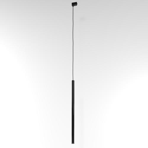 Pistă suspendată NER 500, max. 1x2,5W, G9, 230V, fir negru, negru profund (lucios) RAL 9005