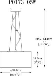 LAMPĂ INTERIOR (ÎNGRIJIRE) LUMINĂ DE ZUMĂ PENDENT PENDENT P0173-05W small 2