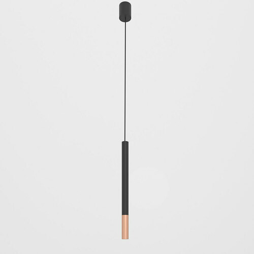 NERON 500 suspendat max. 1x2,5W, G9, 230V, sârmă neagră, culoare cupru (mat), negru profund (structură mat) RAL 9005