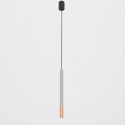 NERON 500 suspendat max. 1x2,5W, G9, 230V, sârmă neagră, culoare cupru (mată netedă), aluminiu argintiu (structură mată) RAL 9006