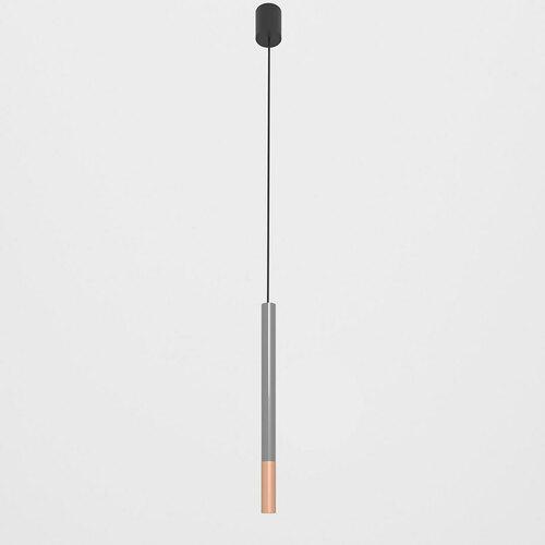 NERON 500 suspendat max. 1x2,5W, G9, 230V, sârmă neagră, culoare cupru (mat), gri grafit (luciu) RAL 7024