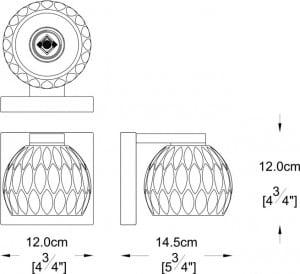 LAMPĂ INTERIOR (KINKIET) LINE ZUMA AURELIA WALL W0404-01A-B5AC small 1