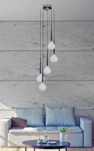 LAMPĂ INTERIOR (ÎNCĂLCARE) LINIE DE ZUMĂ LIBEND PENDANT MD2128A-5W (alb) small 1
