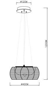 LAMPĂ INTERIOR (ÎNTRÂND) LUMINĂ DE ZUMĂ PENDANT TANGO MD1104-2 (negru) small 1