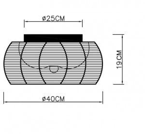 LAMPĂ INTERIOR (CEILING) ZUMA LINE TANGO CEILING MX1104-2 (negru) small 1