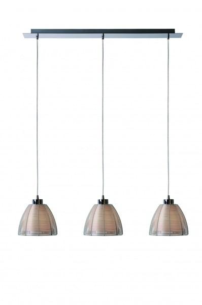 LAMPĂ INTERIOR (ÎNGRIJIRE) ZUMA LINE PICO PENDANT MD9023-3B (argintiu) - Argint