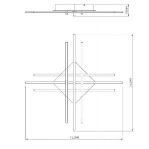LAMPĂ INTERIOR (CEILING) ZUMA LINE CROSS CEILING PL99829-6 small 2