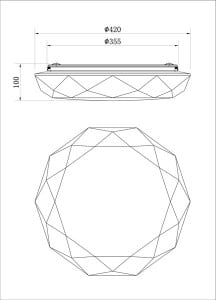 LAMPĂ INTERIOR (CEILING) ZUMA LINE ALTA CEILING RLX96700-1 small 2