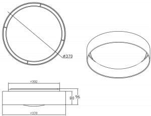 LAMPĂ INTERIOR (CEILING) ZUMA LINE ADEM CEILING E9371-37-LED-BL (negru) small 1
