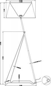 LAMPĂ INTERIOR (PIERE) ZUMA LINE GALILEO FLOOR TS-120628F-CHBK (negru) - Negru small 2