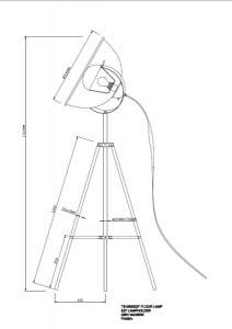 LAMPA WEWNZTRZNA (PAVIU) ZUMA LINE ANTENNE FLOOR TS-090522F-WHSI (ALB / ALB) small 2