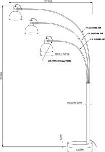 LAMPĂ INTERIOR (PIERTURI) ZUMA LINE ANTENNE FLOARE TS-140123F-BKGO (nuanță aur în interior) small 2
