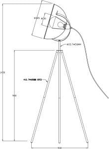 LAMPĂ INTERIOR (PISCĂ) ZUMA LINE ANTENNE II PIERE TS-130603F-BKGO small 2