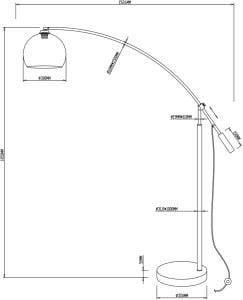 LAMPĂ INTERIOR (PLANĂ) ZUMA LINE MADISON FLOOR TS-061121F small 2