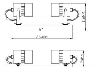 LAMPĂ INTERIOR (CEILING) ZUMA LINE SICA CEILING CK99892-2 small 2