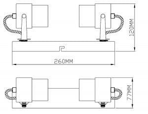 LAMPĂ INTERIOR (CEILING) ZUMA LINE RAO CEKING CK99893-2 small 1
