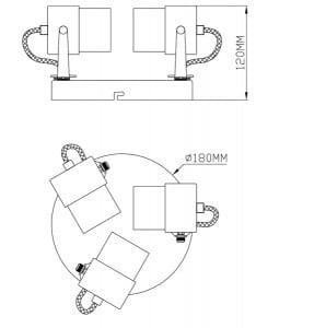 LAMPĂ INTERIOR (CEILING) ZUMA LINE RAO CEKING CK99893-3 small 2