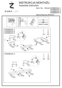 LAMPĂ INTERIOR (CEILING) ZUMA LINE SPAZIO CEILING CK99603A-4 small 2