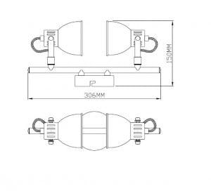 LAMPĂ INTERIOR (CEILING) ZUMA LINE RAVA CEILING TK100008-2 small 1