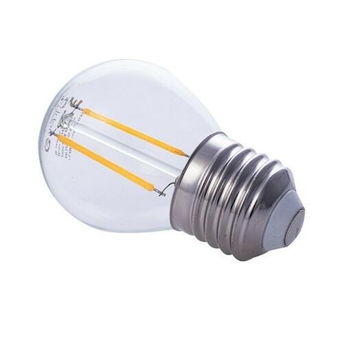 Bec cu filament LED E27 G45 2700K de 2 W