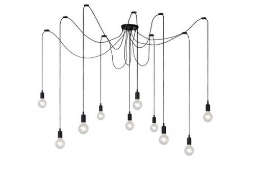 Lampa suspendată cablu negru FIXI E27
