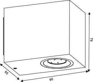 Lucide ZORA-LED 22860/05/30 lampă de perete cub exterior small 1