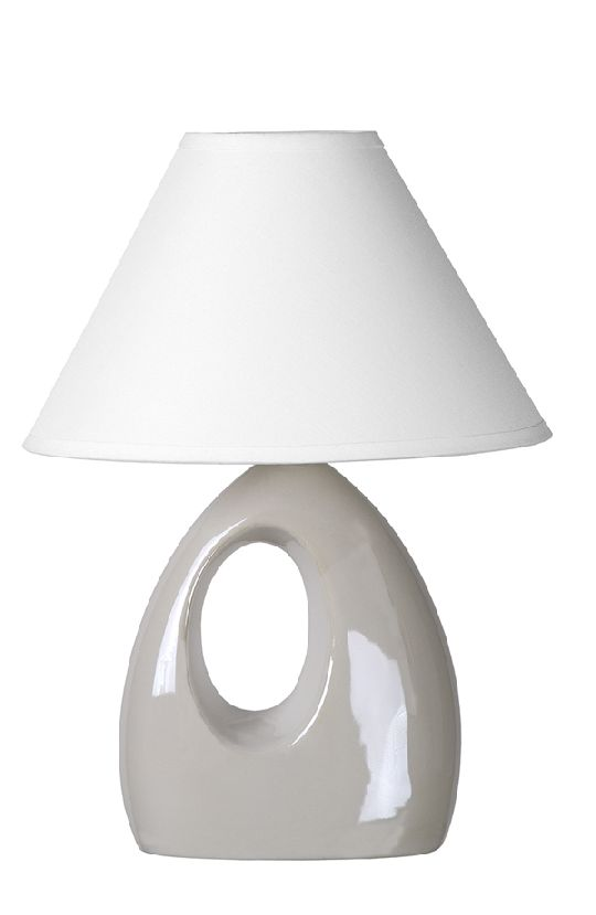 Lampa HOLLY de masă albă E14