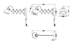 Lampă de perete reglabilă SCISSOR R20321078 small 1