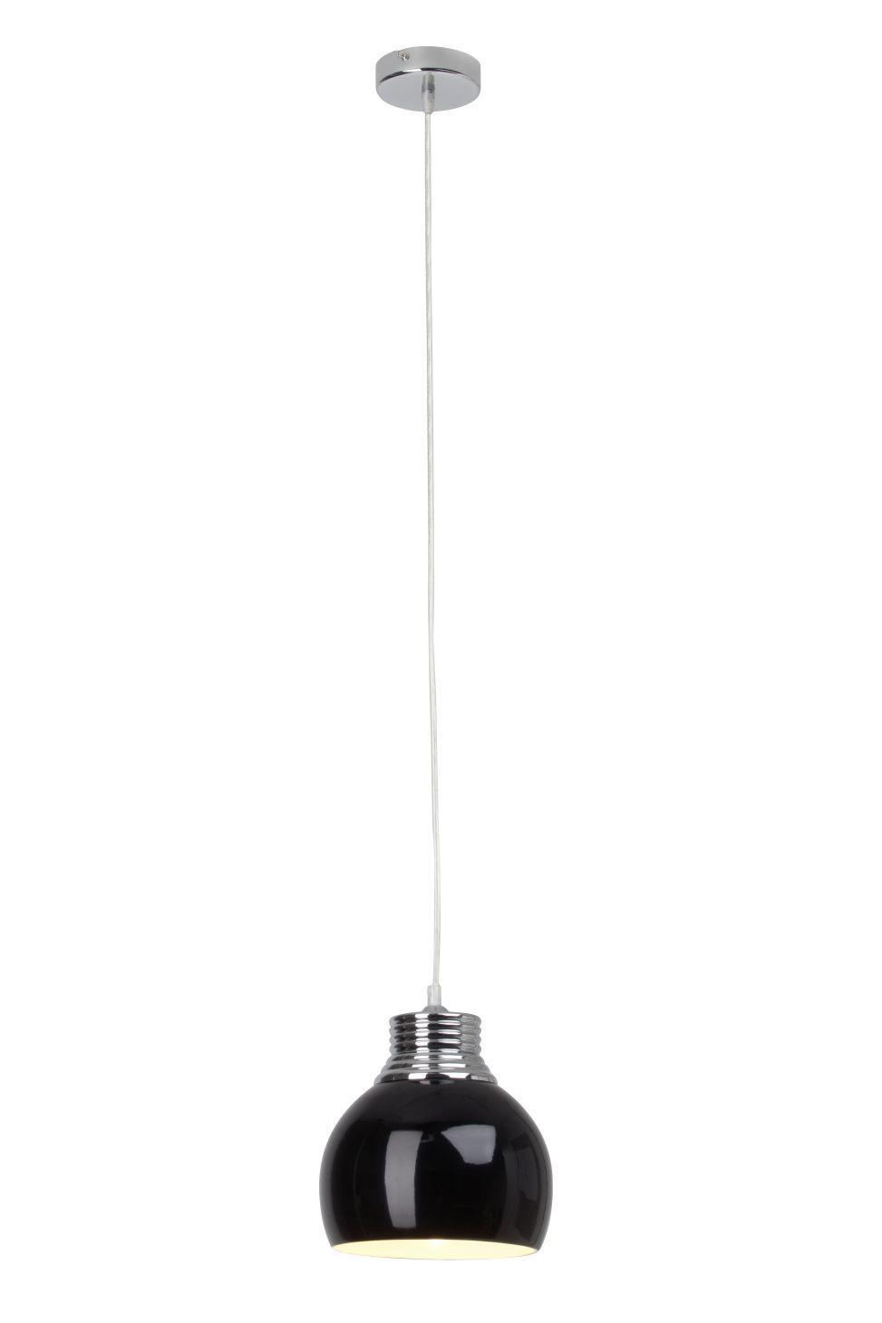 INA Lampă cu pandantiv negru, crom