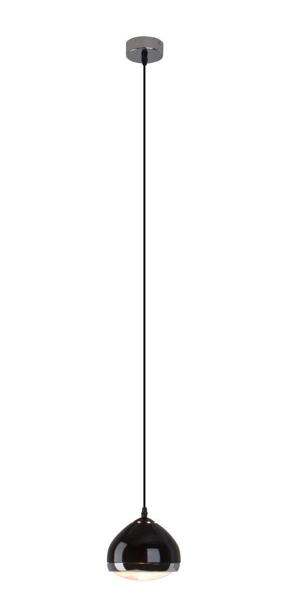 RIDER Lampa cu pandantiv negru, crom