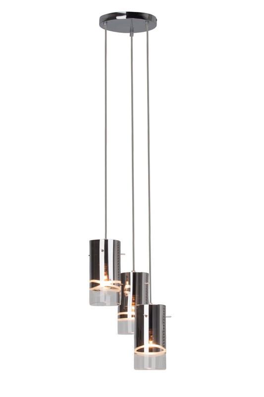 CARLOW Lampă cu pandantiv crom (spray)