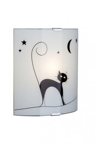CAT Lampă de perete albă cu pisică