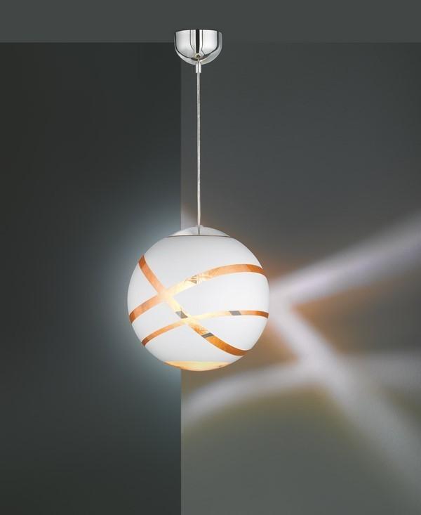 Lampa suspendată GLOBE WHITE alb mat E27