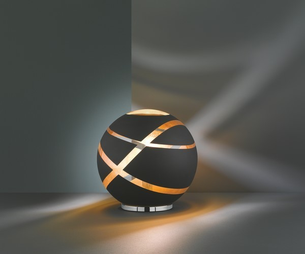 Lampa de masă GLOBE BLACK negru mat E14
