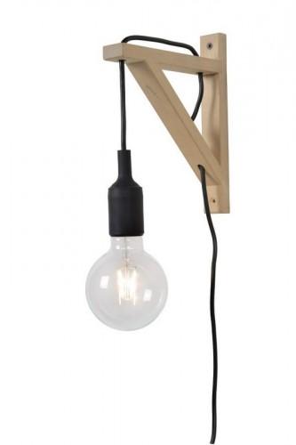 Cablul de perete FIXI WOOD negru