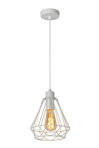 Lampa pandantiv vintage KYARA Ø 20 cm alb