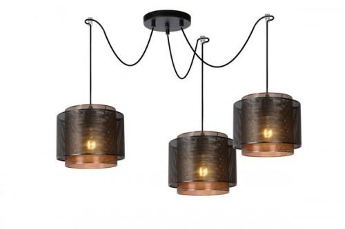 Lampă cu pandantiv în trei puncte ORIGIN metal negru E27