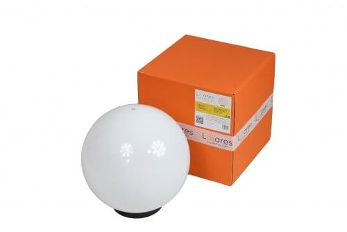 Lampă de grădină Ball ball 30 cm, sferă decorativă, minge de grădină strălucitoare, alb, luciu