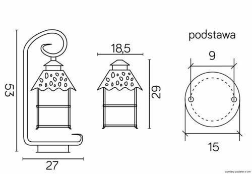 Lampa de picioare exterioară pe o spânzurătoare cu vitraliu (53cm) - CADIZ K 4011/1 / Z