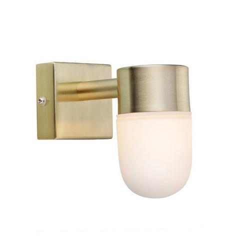 MENTON Lampă de perete 1L Golden Brushed / Opal IP44