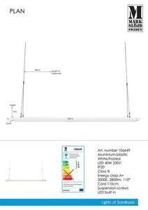 PLAN 120cm 40W Panou alb small 0