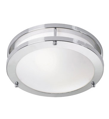 TABY LED Plafon Chrome / Alb