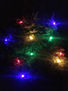Fire Tree Light String 30m - 60 becuri LED multicolore small 1