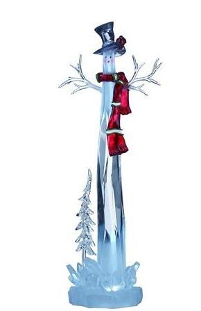 Figurină decorativă pentru vacanța DUMLE, om de zăpadă LED