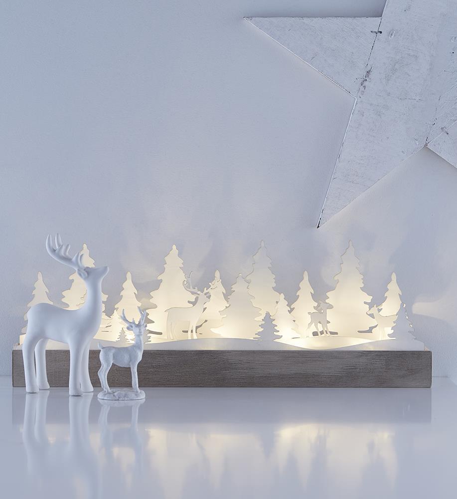 Decorațiuni de masă pentru sărbătorile LED alb JOHANNESBERG