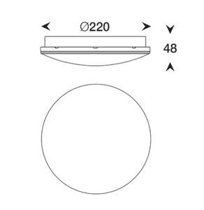 Plafond Bellatrix LED 4000K IP65 alb small 1